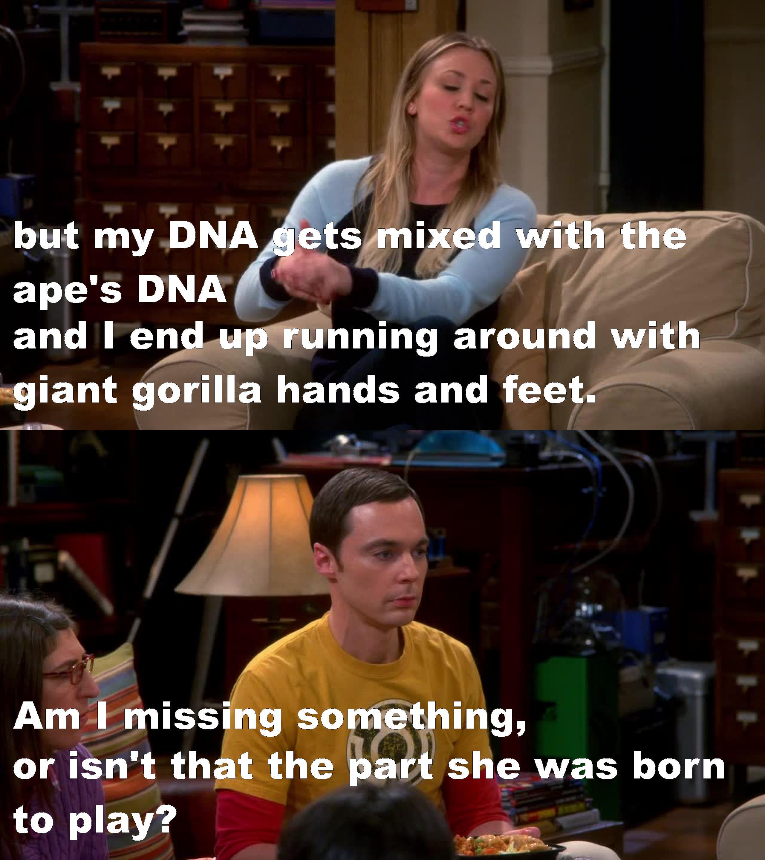 Hahahaha, Sheldon!