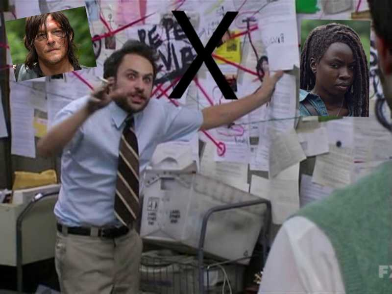 Me trying to figure out who gave Daryl and Michonne the same X scar