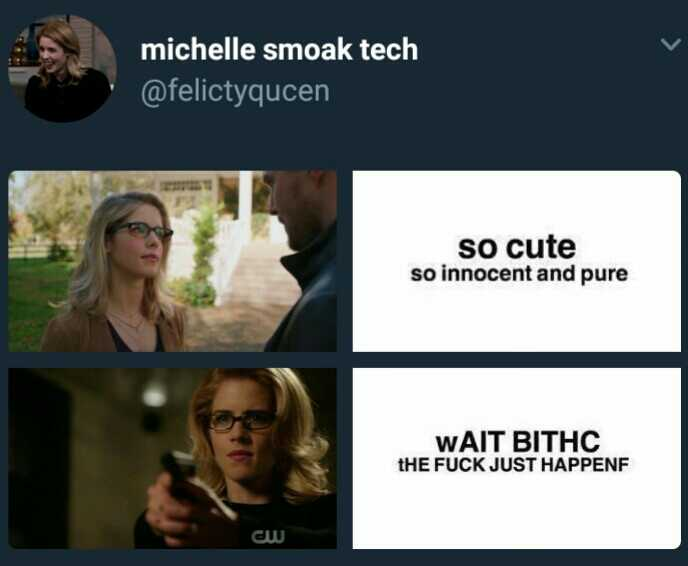 I love you Felicity 😂