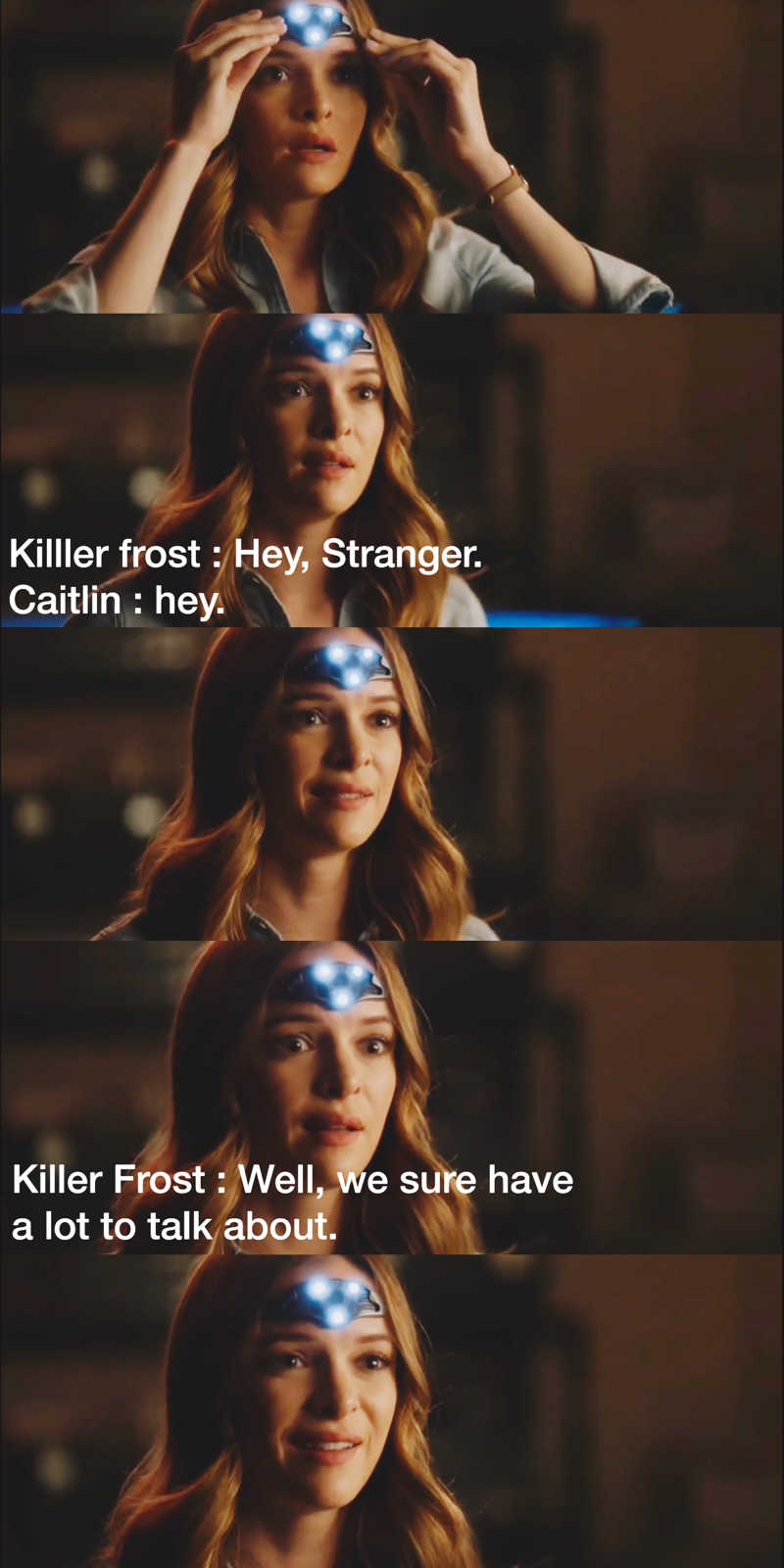 Caitlin and Killer Frost talking to each other 💙