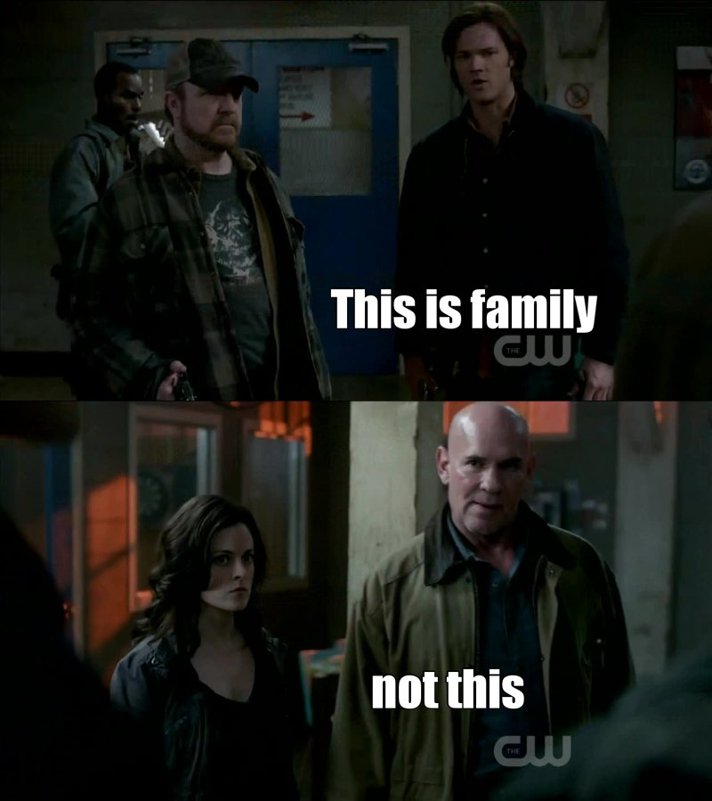 Bobby and even Rufus are family for Dean and Sam, not Samuel. I hate him