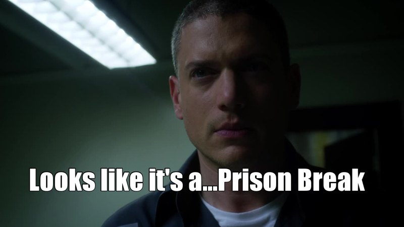"""I was a bit diasappointed that Snart didn't have some kind of line like: """"Well i guess this is a prison break"""" xD"""