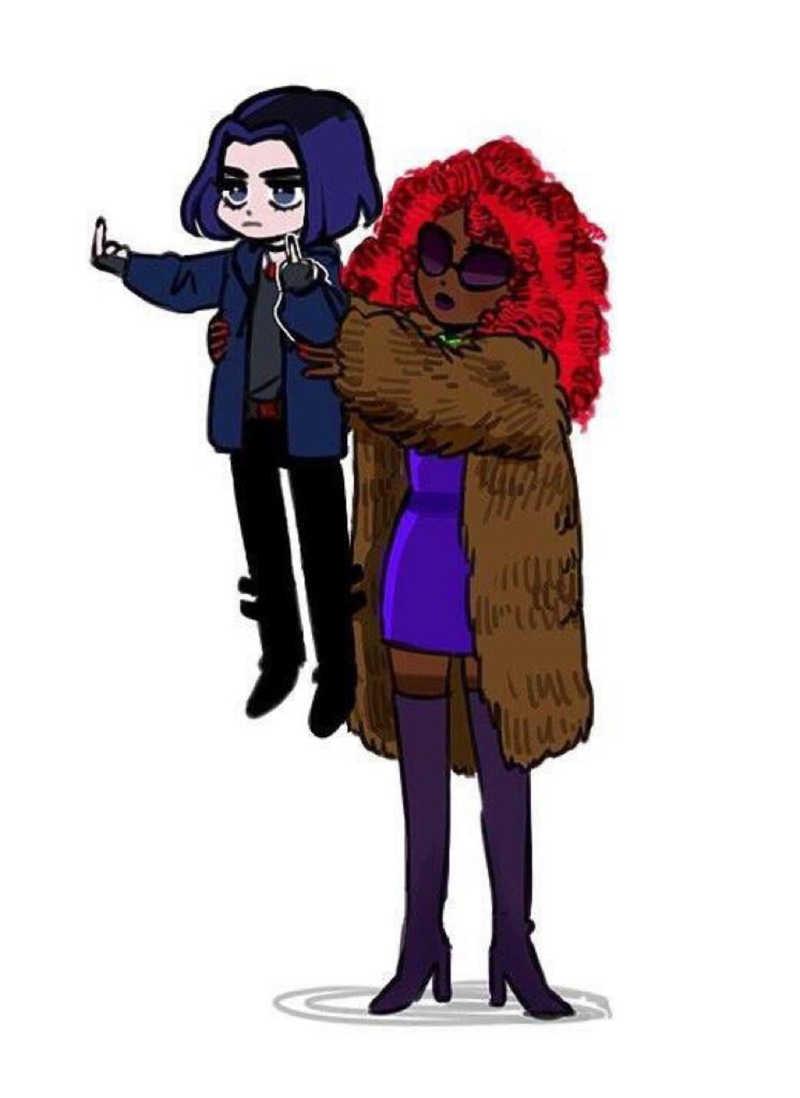 Raven & Starfire