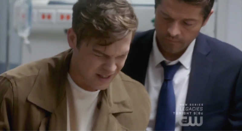He wearing cas's trench coat DON'T TOUCH ME