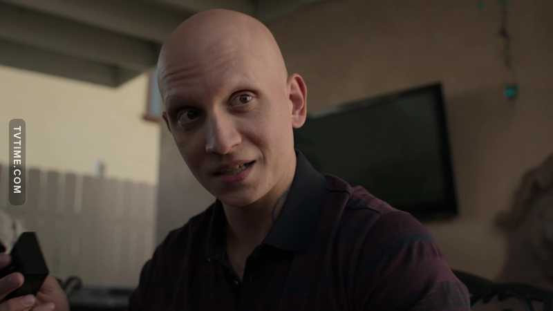 Victor Zsasz can't help but be gangster anywhere he goes.