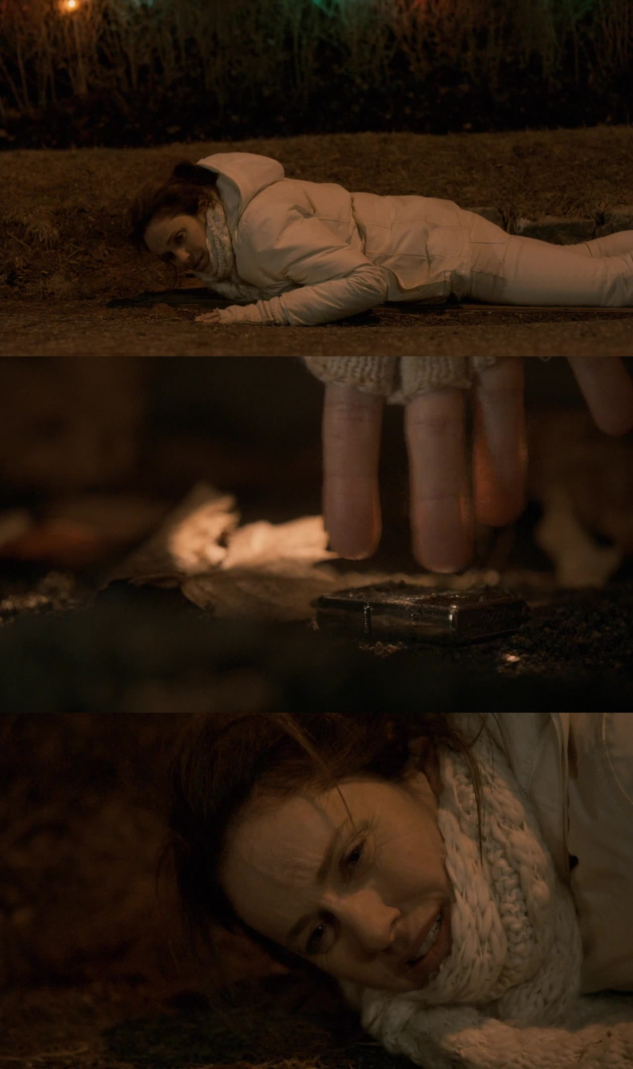 So sad and beautiful scene at the some time. She longed to recover the detail that her daughter gifted her and that was the last thing that connected with her. WOW ????