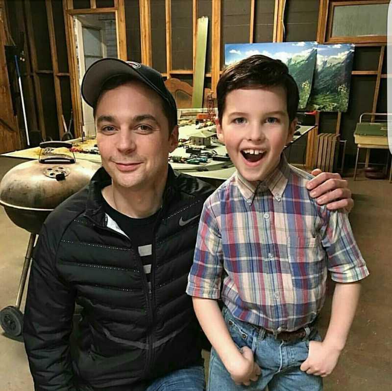 Sheldon and mini Sheldon 😍