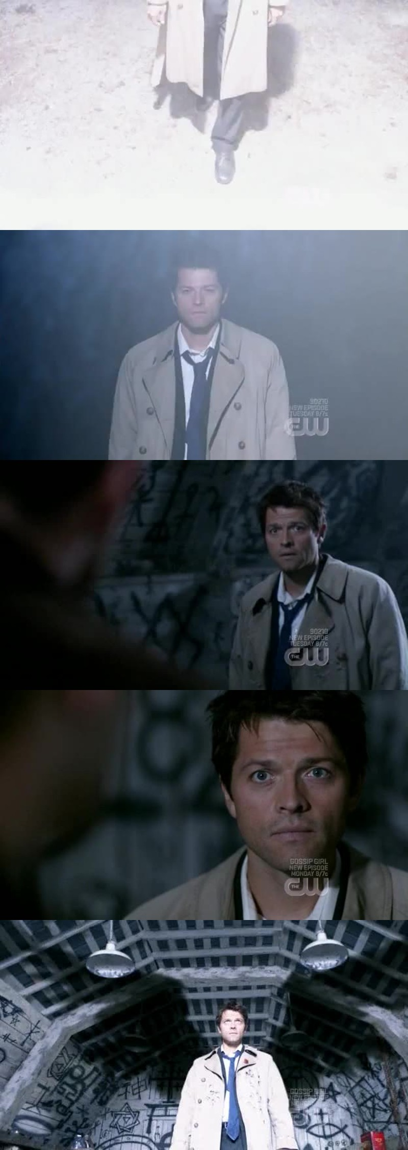 """""""She used to tell me when she tucked me in that angels are watching over us, she was wrong"""" No she wasn't, Dean."""