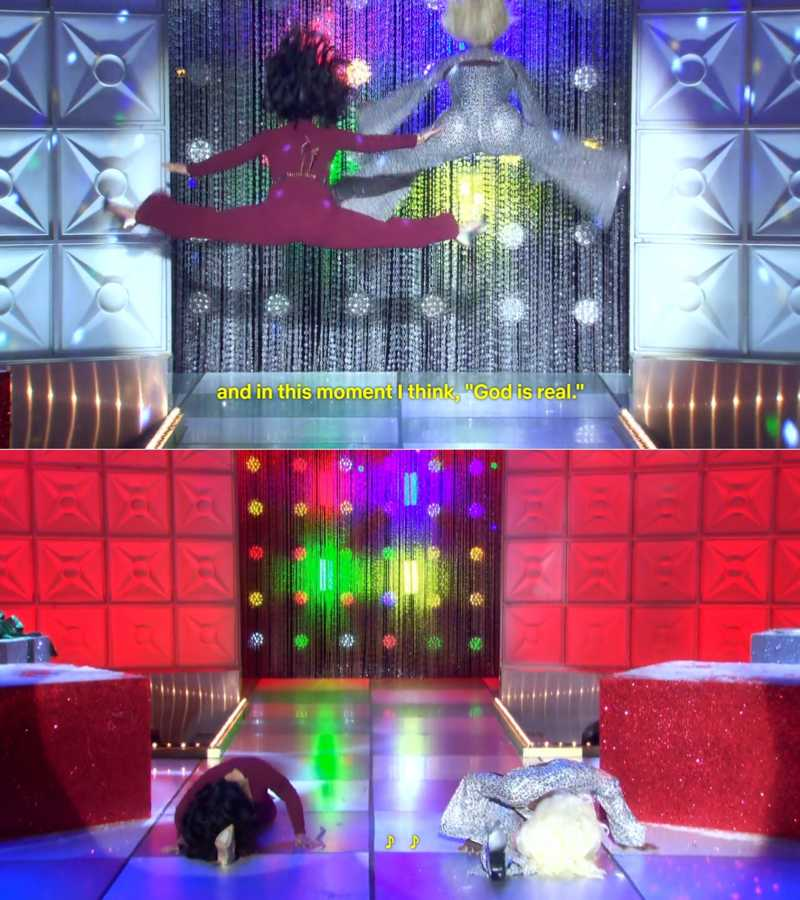 OMG, Ru's and Michelle's lip sync cracked me up.