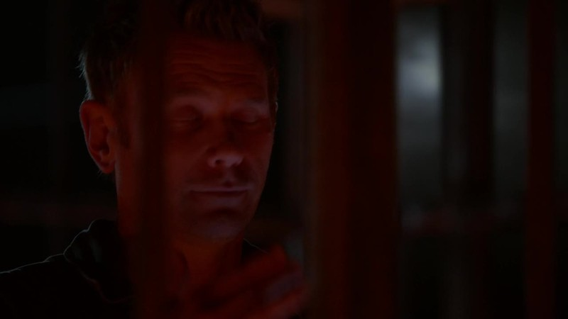 Lucifer doing the Sign of the Cross. Yeah, this is Supernatural