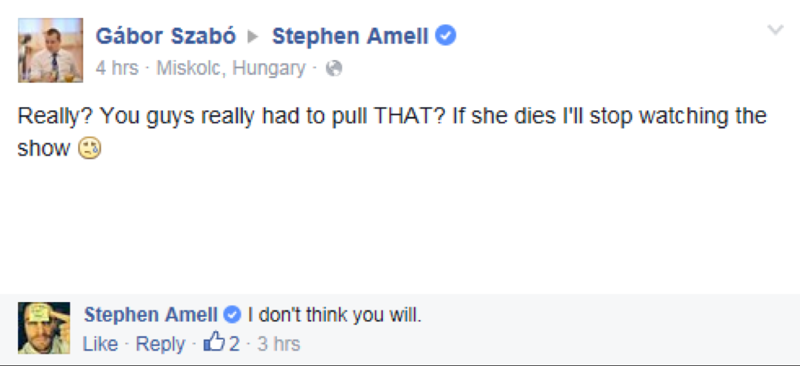 to you all thinking that Felicity will die... I'm just gonna leave this here... :)