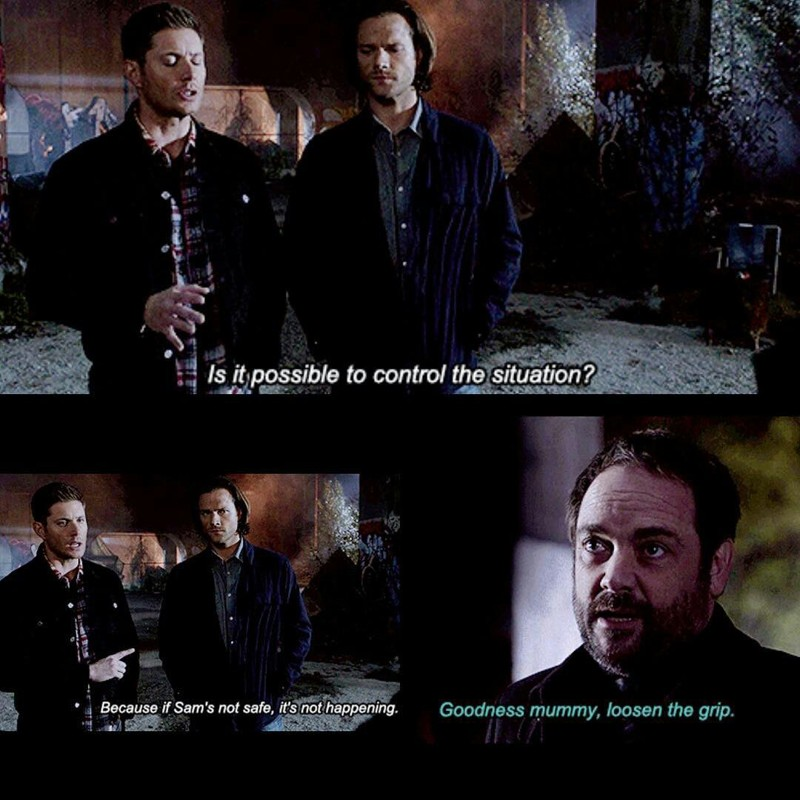 and like ever dean care about his brother more than any things else. I love this brotherhood relation.
