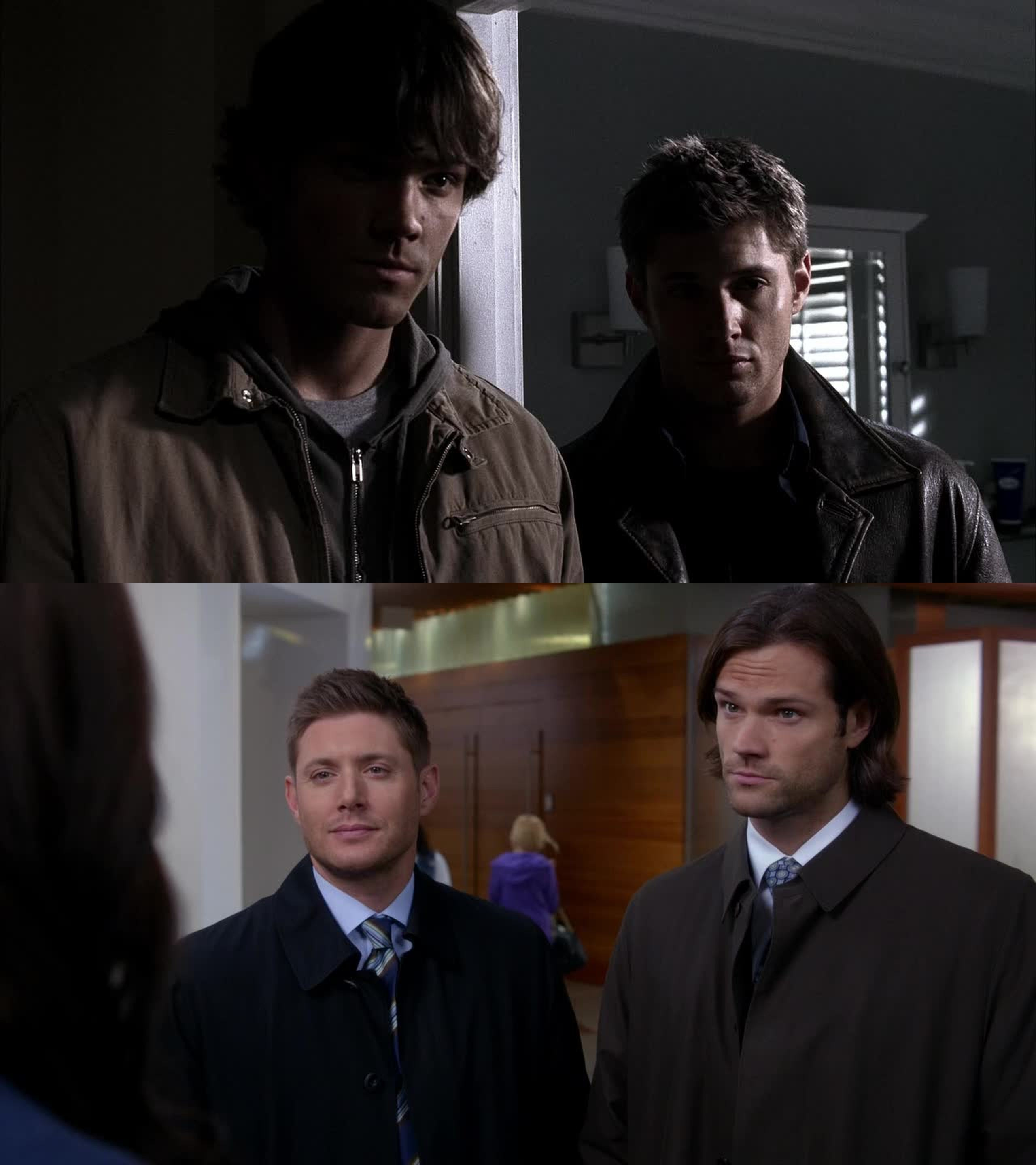 These last episodes remind me the old Supernatural.. and I freaking love it! Ghosts, salt and fire, Dean happy with a lot of food, big talks.. Great!!!