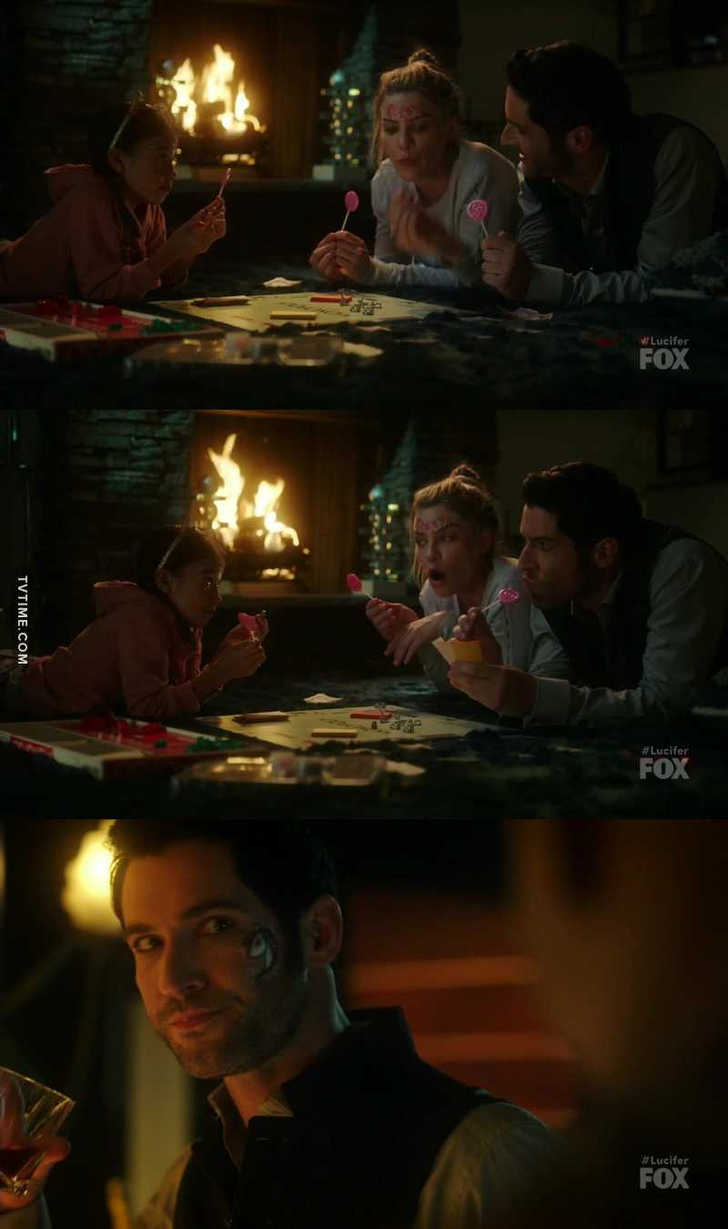 A little cute family. I love The normal Lucifer❤️ The tattoo 🦄 😂😂😂😂