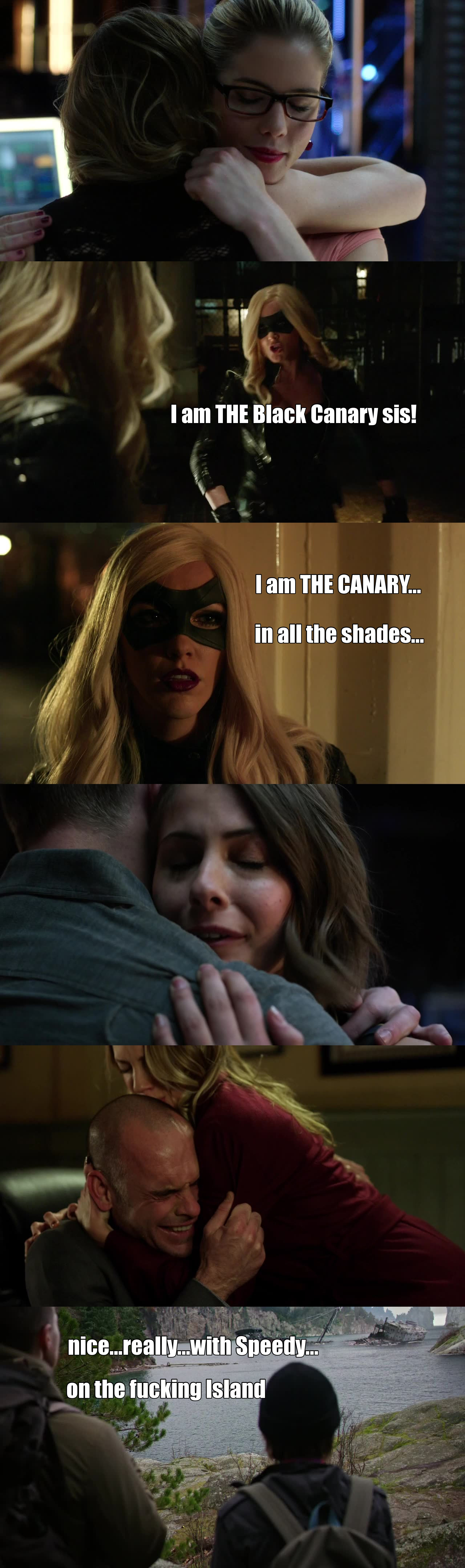 """THAT!!!!............WAS AN AWESOME EPISODE   Seriously, I think all the fans are satisfied now:  -Laurel being """"kicked"""" by her own sister -Thea knowing about Oli and crashing in the lair -The jerk....the blond guy...DJ.....Ras' dog! -->D.E.A.D. -->Perfect  -Laurel coming clean to her father Thea NOT ANGRY AT ALL except against Malcom --> UNEXPECTED --> AWESOME  -Roy taking care of Thea no matter what. -Felicity..........well she definitely makes her point with Oli or Laurel  One of the best episode ever, lot of actions, emotions & changes/evolutions"""