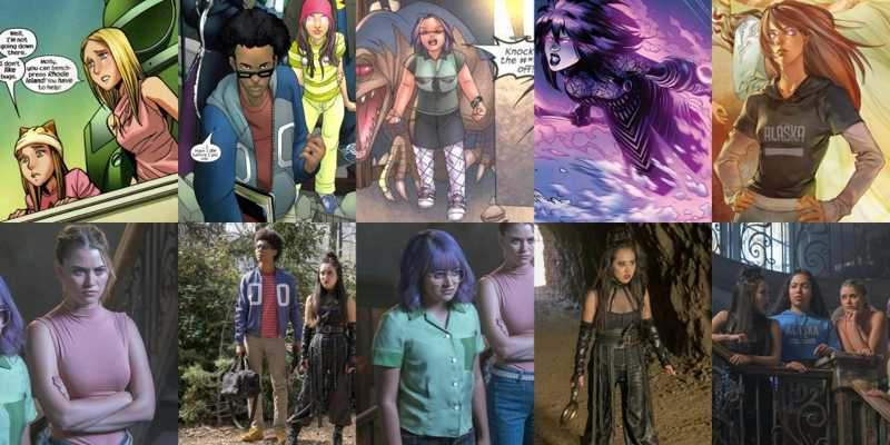 runaways + outfits from the comics