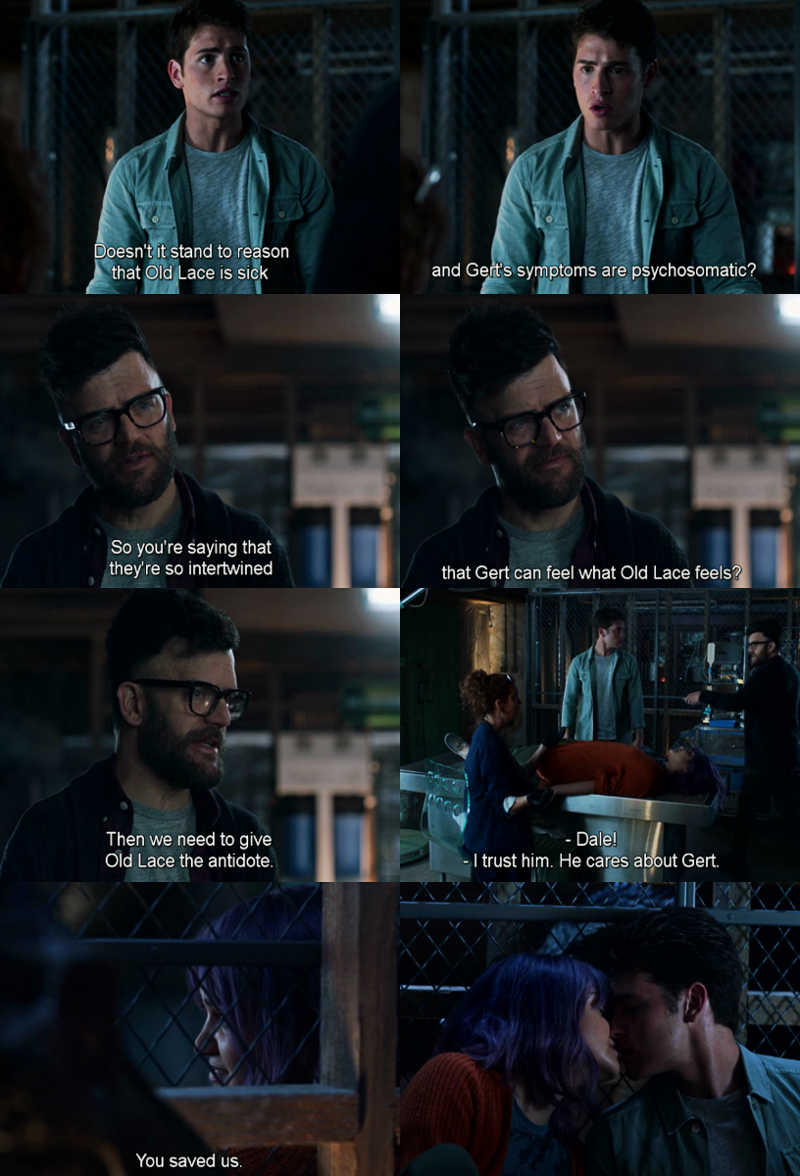 Can we just appreciate how amazingly great was Chase dealing with Gert's parents and doing the right thing in that scary tense situation?! 😱 He convinced them to use the antidote on Old Lace in order to save them both. Well done!! 👏😍