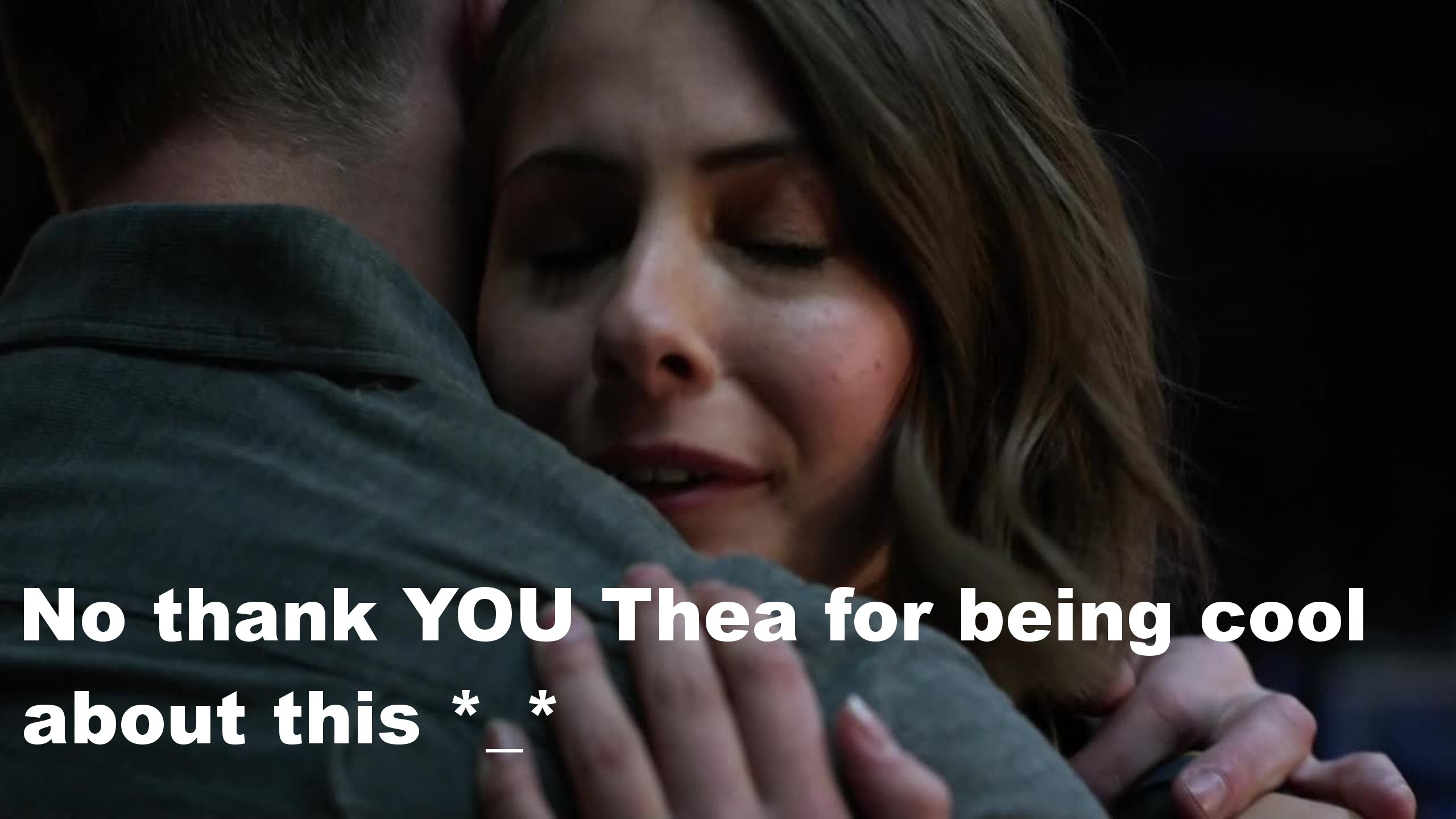 So, Thea being totally cool and thankful for Oliver kind of made me cry and live her even more :') Which made Diggle wrong about her knowing! and Thea hating on Malcom was the best thing, it's like she's with Felicity! speaking of Felicity and the way she stood up to Oliver it was AMAZINGLY amazing! Though in the end when he decided to leave for a few days made me sad because we might not see the Arrow next week :(