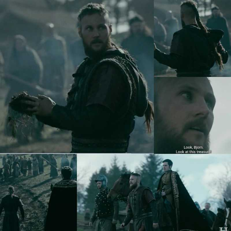 'Look, Bjorn. Look at this treasure!' Ubbe finished what Ragnar has started. I loved everything abot this scene, especially the music.
