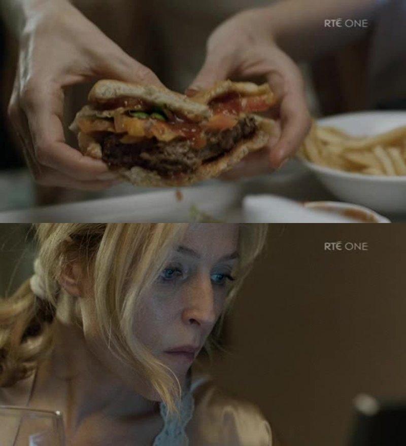 no one has ever looked this good eating a hamburger