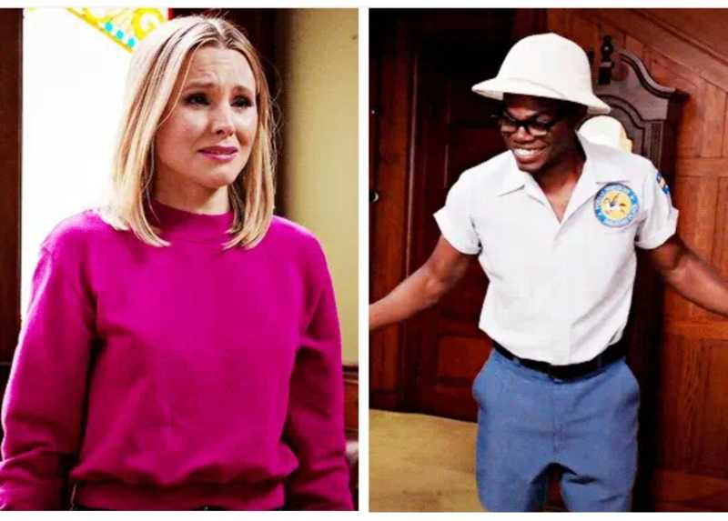"Chidi dressing up as a mail man for Eleanor and Eleanor crying after realizing that Chidi really wants to be with her is a Mood 😍😭  ""This sucks, and I'm furious, and I'm the happiest I've ever been, and I blame you!"""