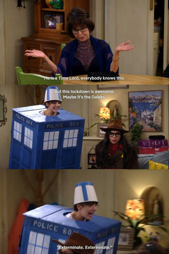 These Doctor Who references!!!😂💙  (I love Abuelita, Syd and Elena so much)