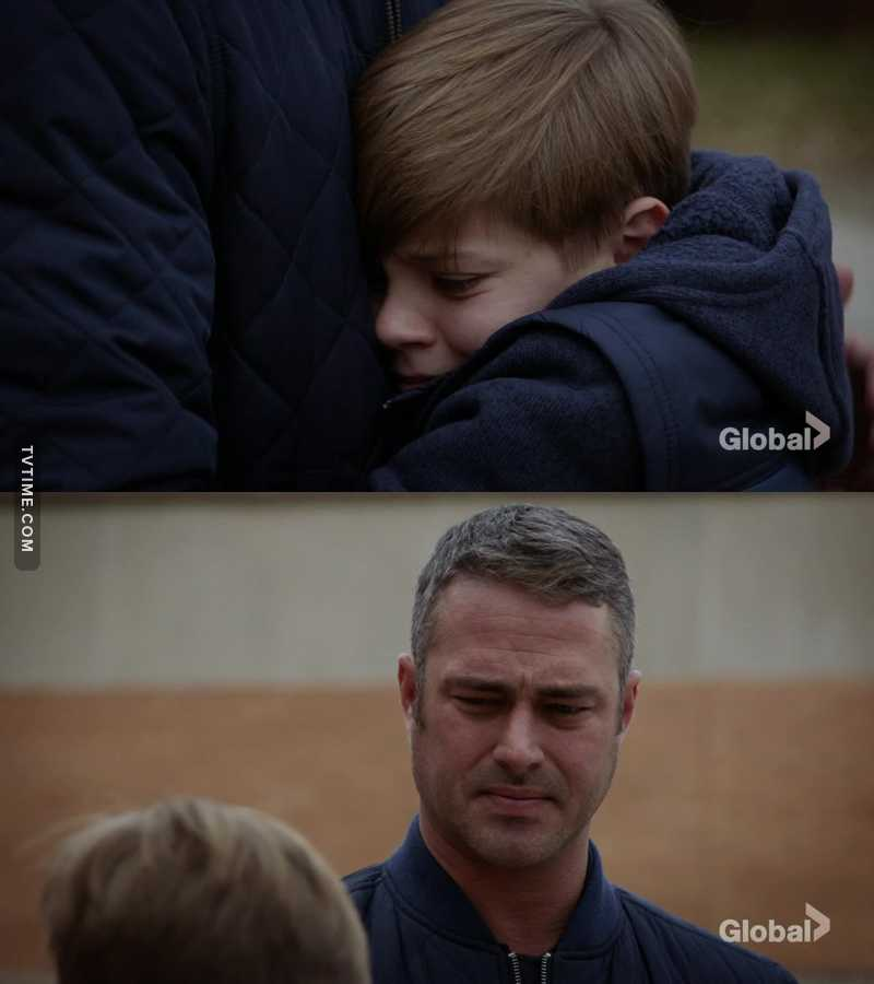 This was such a sweet moment, Severide would be such a good dad