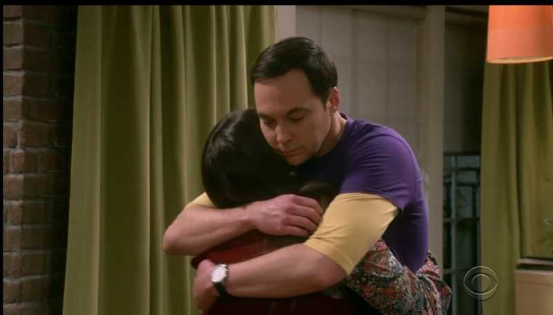 I always wanted sheldon to be recognized   And win a Nobel  But i realized there are things far better and more important than Awards  It is Love  Sheldon and Amy complete each other With what started as a Dirty Sock in the rooftop it ended up creating this beautiful moment  Small actions can have Great consequences