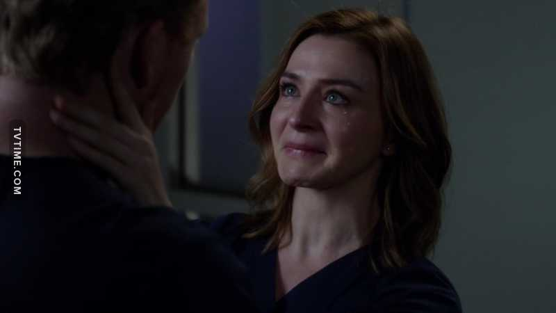 I love Amelia more and more, every episode. Caterina Scorsone is absolutely so talented !  Let her be happy. Please. This freaking scene is killing me. I'm so sad. But I don't think that their relationship is finished !