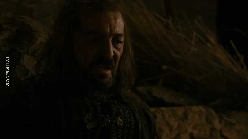 Idk why he defended Gendry so hard and protected Arya as a daughter. Such a brave man. To this man...