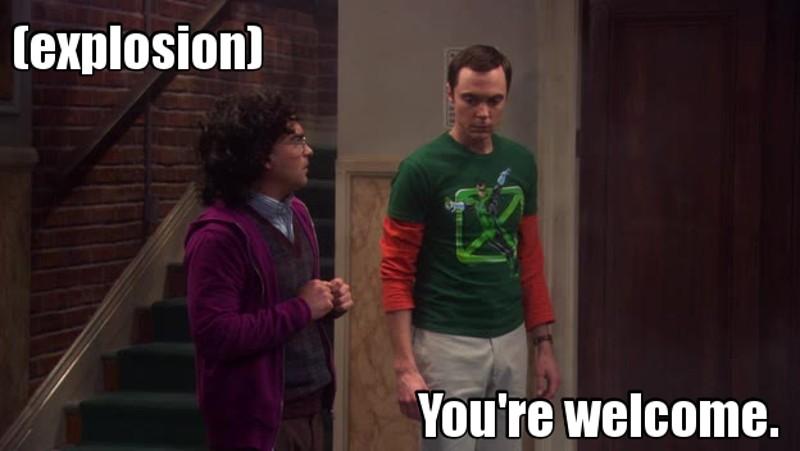 Sheldon the hero
