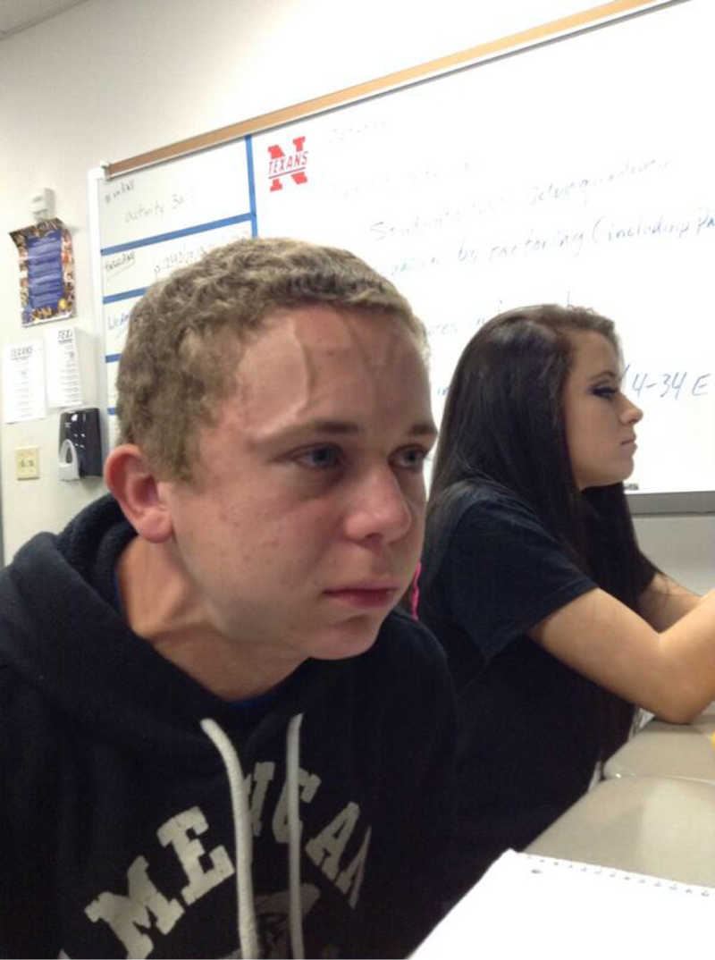 "Nate trying not to say ""he killed my pops"" every scene"