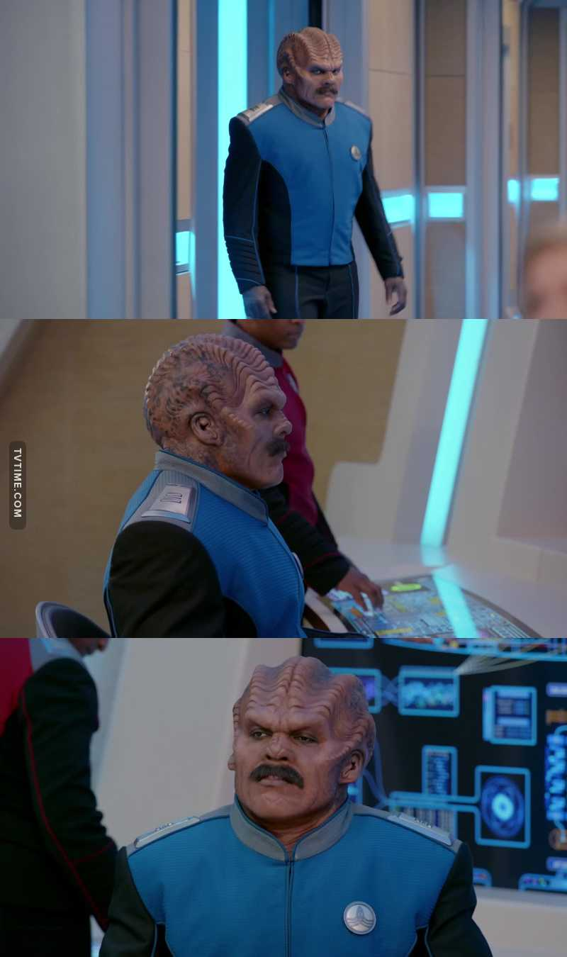 Don't ever let anyone facial hair shame!   Bortus is living his best life!
