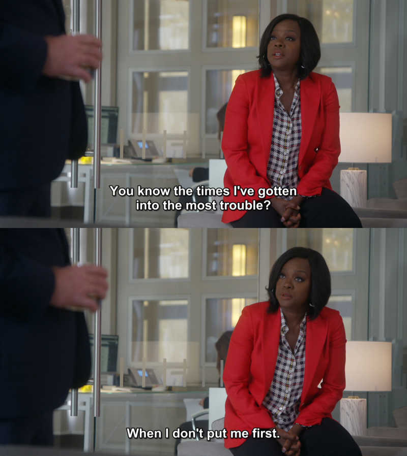 Annalise speaking the truth.