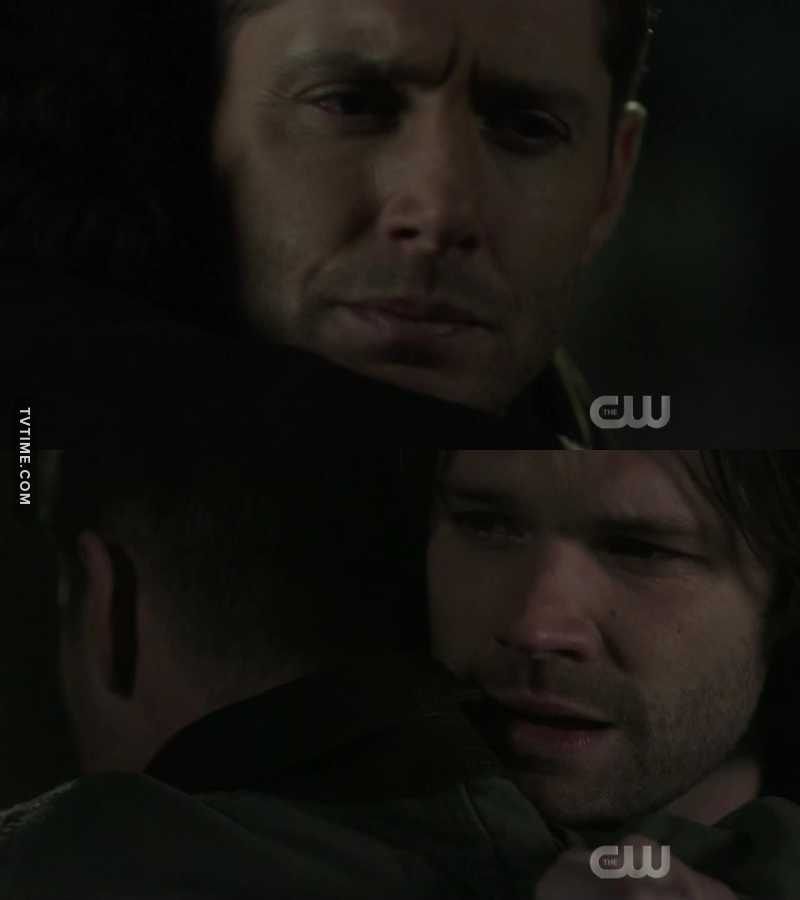 It's been a while since I've seen Sam like a little brother. That look in Sam's eyes and the expression on Dean's face, says everything. Love this show.... Love those 2...