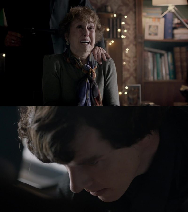 I loved that he got pissed cos they have hurt Mrs Hudson. I like her too much.