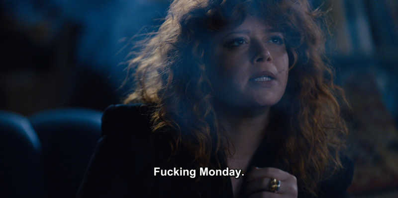 When you realize the weekend is over: