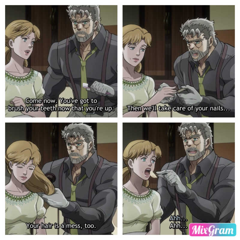 Joseph is such a sweetheart! ❤️❤️❤️ I hope Jotaro becomes more like him as the season goes on.