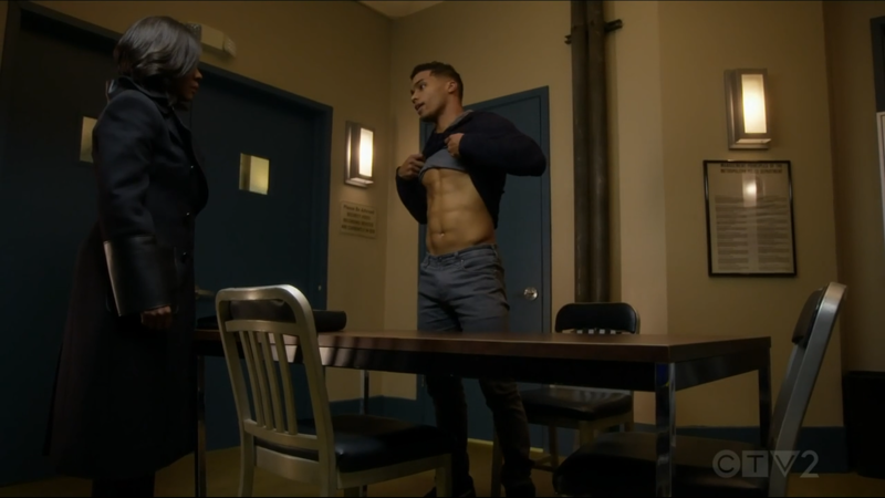 I think this scene was just an excuse to get Gabriel to show his abs haha