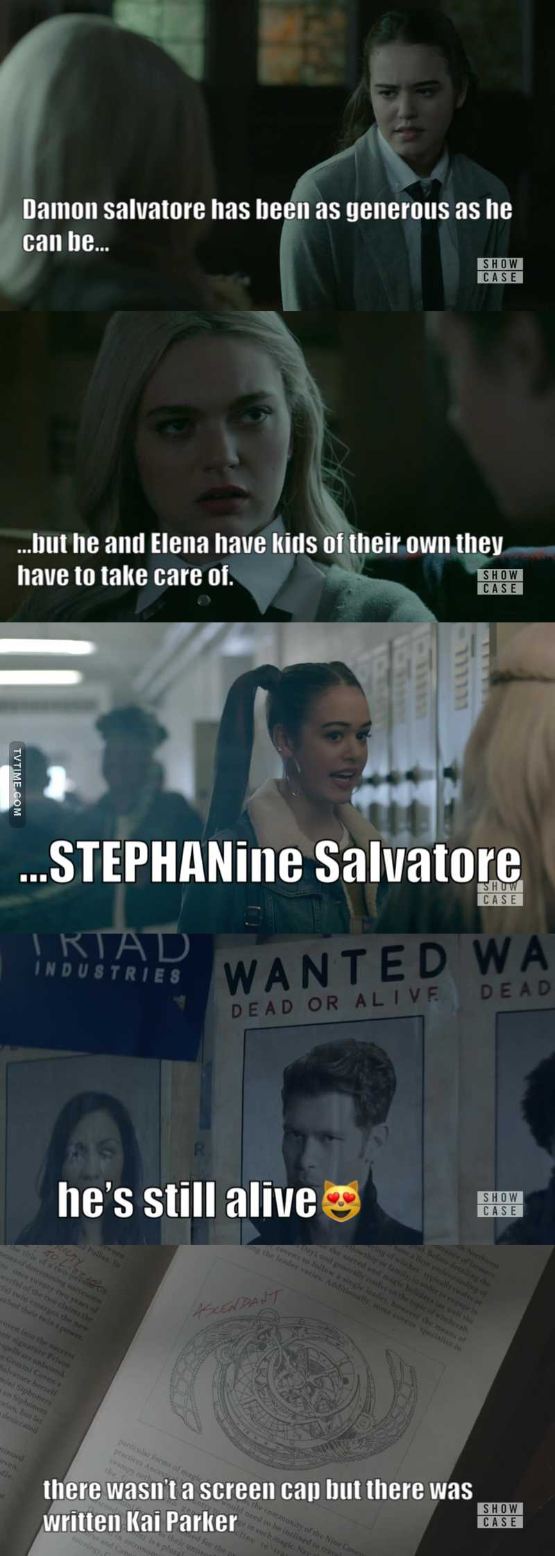 guys my TVD feelings😻  'Damon Salvatore has been generous as he can be but he and Elena have kids of their own they have to take care of' STEPHANie i'm crying 😭  Klaus ❤️  MalaKAI Parker😻😻😻😻😻😻