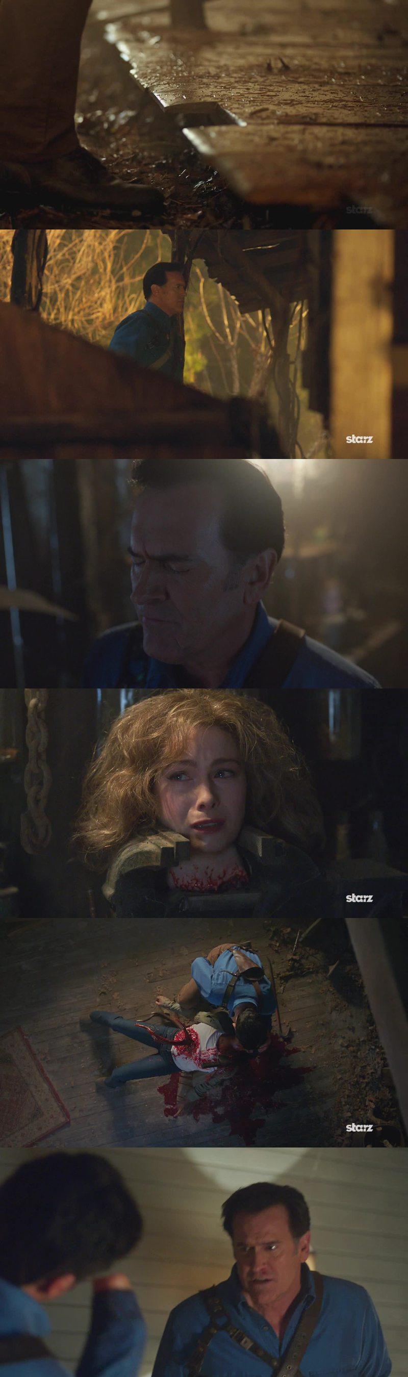 """Oddio, questo episodio è stato fantastico e io rischio di ripetermi ogni volta che commento un episodio! Ma porca paletta però! Amanda ha passato la maggior parte della serie a credere che Ash fosse il cattivo e dopo un episodio in cui sta dalla sua parte, MUORE? In quel modo, poi? Nope, no, non l'accetto. Ops. Ma nel trailer della serie non c'era una parte in cui lei e Ruby si baciavano? Oppure hanno tolto la scena? Il resto, poi, è stato grandioso! LA CASA!!  Hanno rifatto anche la stessa scena del dondolo sotto al portico, quello che sbatteva contro la parete e smetteva una volta che uno saliva sul portico! AMO!!  E la sua ex ragazza? E il volto di Ash quando ha capito che avrebbe riparlato con """"lei""""? Si vedeva che l'ama ancora. Ed è anche ritornato il doppione di Ash e l'episodio è terminato proprio sul più bello. QUANDO ARRIVA DOMENICA PROSSIMA?????"""