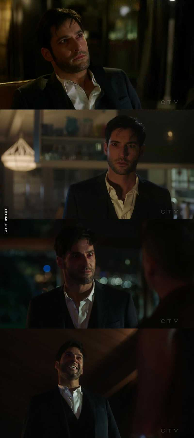 Tom Ellis was perfect in this episode. I really felt the pain, the sorrow and the depression Lucifer was feeling in that moment. An applause for him, he deserves at least one. A very long one. And an Oscar.