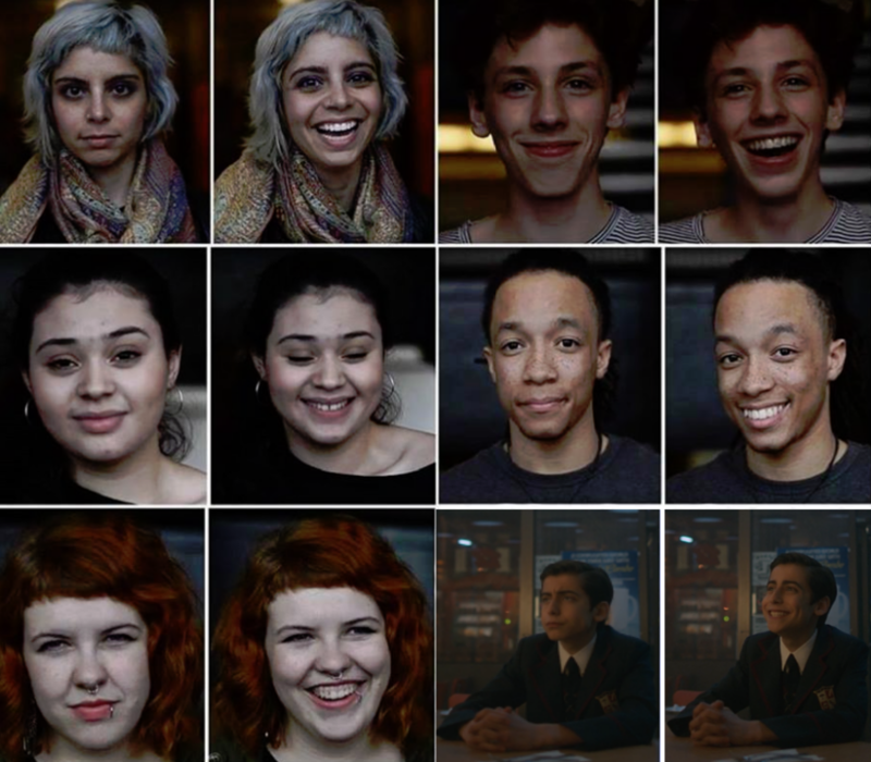 A photographer took pictures of people before and after she called cute