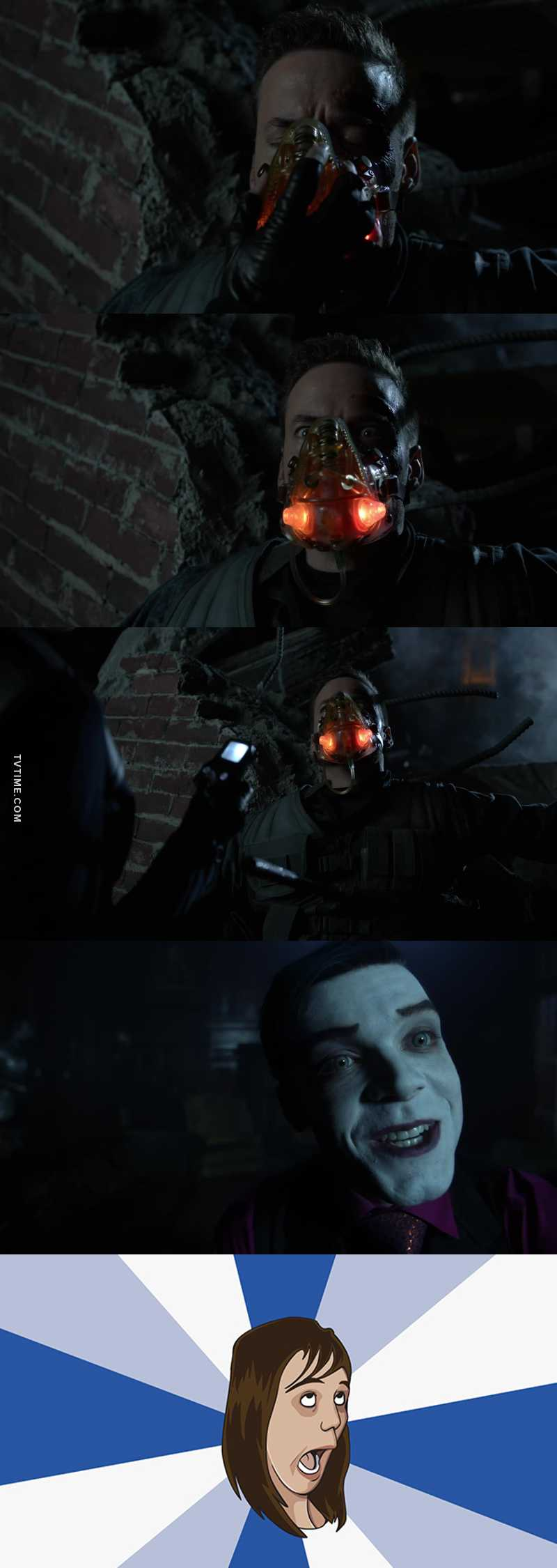 First the joker, and now bane. This is getting interesting. 😏😏😏👏👏👏 they probably setting up for series finale.
