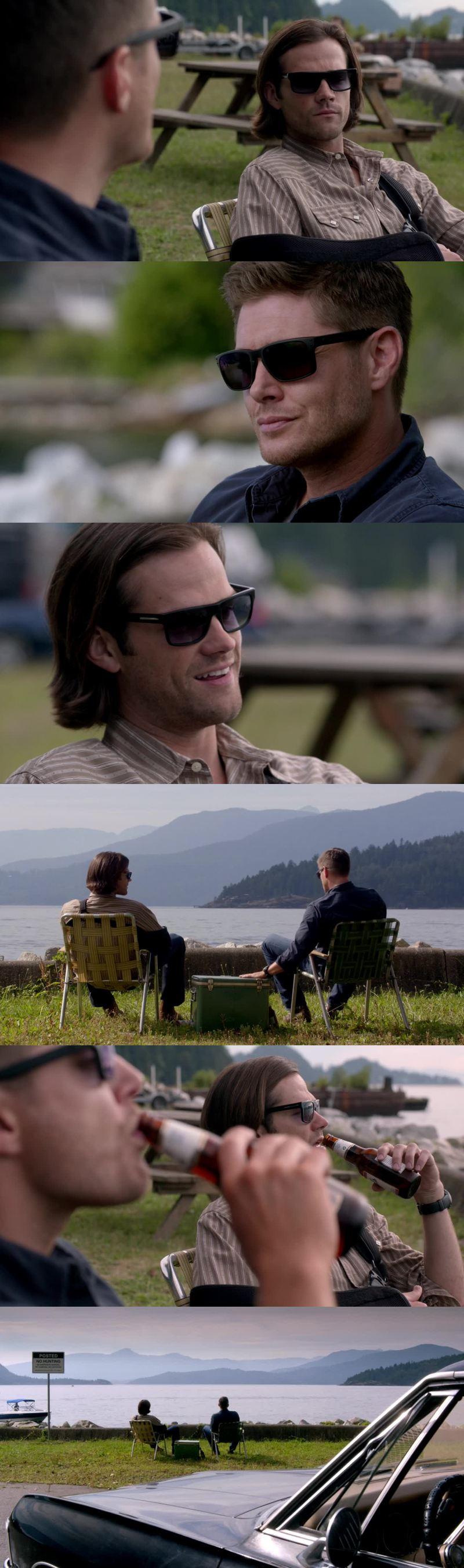 Why do i see the winchesters taking a break and relaxing a weird thing?
