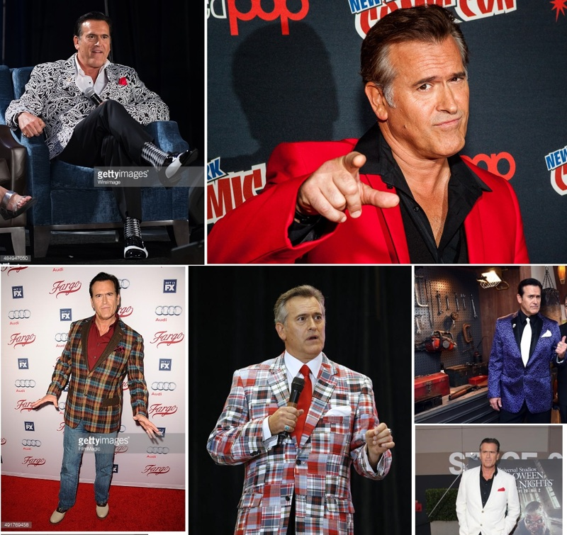 Only he can wear these jackets! This man is really GROOVY!