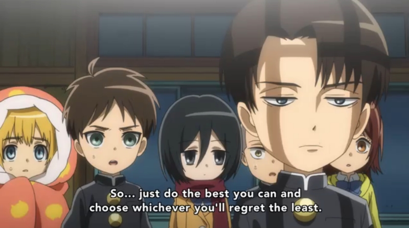 LEVI AND HIS SENTENCE  ALWAYS RIGHT IN THE KOKORO