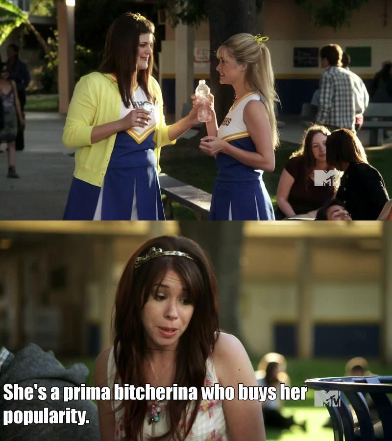 Prima bitcherina. Love that.