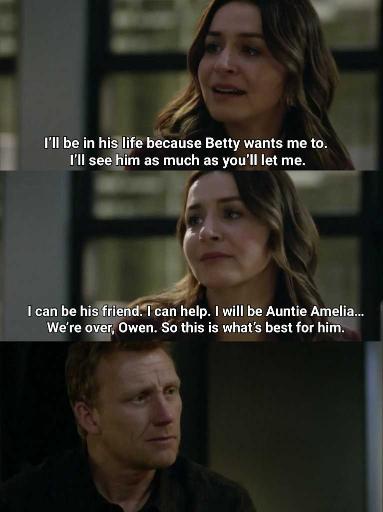 Amelia made the right choice.