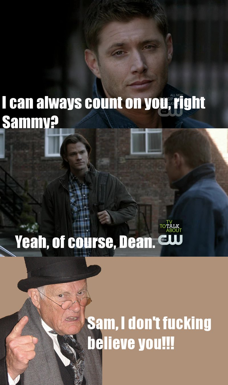 Sam, that smirk when the vampire attacked dean drives me insane. What is wrong with you?? (btw Dean's hot as always *-*)